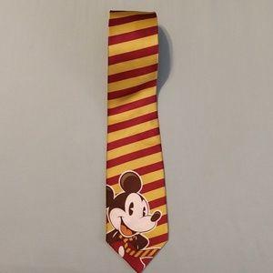 Disney parks silk striped Mickey mouse tie.